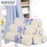 1 PCS/Lot Free Shipping 100% Pure Cotton Terry Floral Printed Bath Towel - Beltran's Enterprise