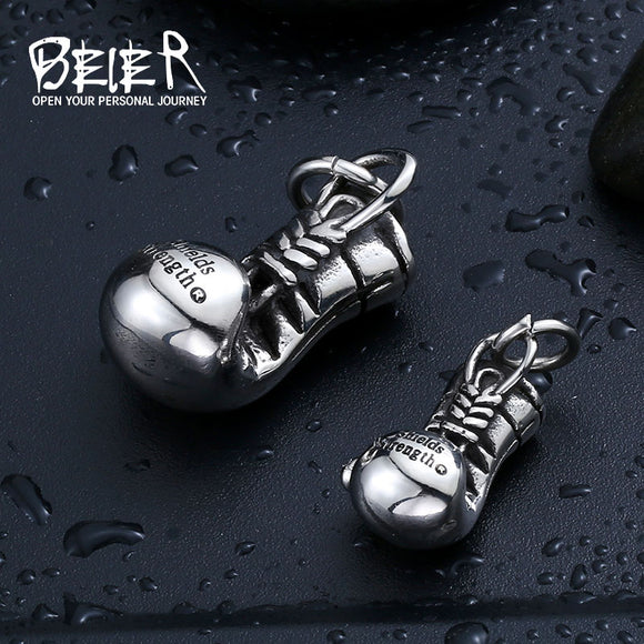 BEIER Fashion 316L Stainless Steel  Boxing Glove Pendant Necklaces Jewelry Boy's Cool Punk - Beltran's Enterprise