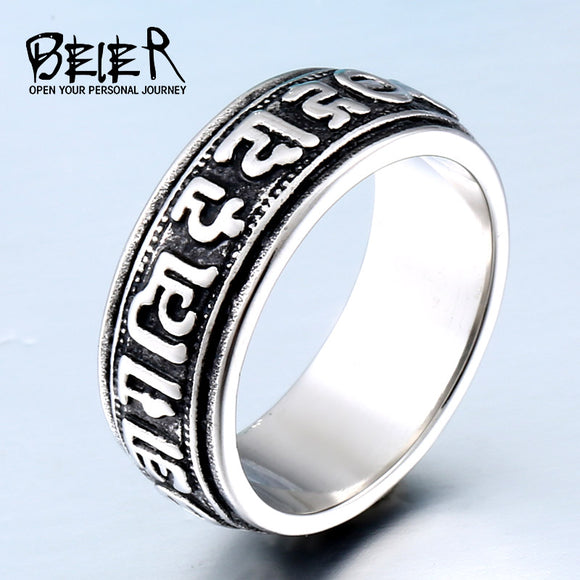 2017 NEW Man Punk Ring Factory Price 316L Stainless Titanium Steel Lucky Jewelry - Beltran's Enterprise