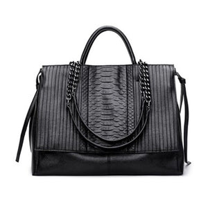 NIGEDU Brand design women handbag luxury Simple crocodile  leather handbags - Beltran's Enterprise