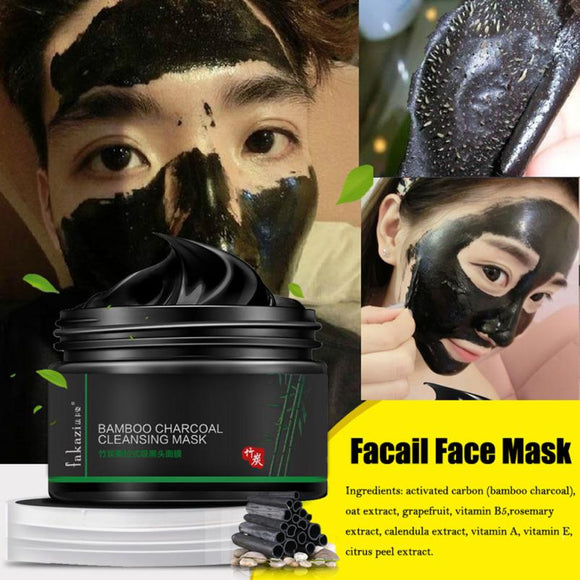 FAKAZI 120g Black Mud Deep Cleansing Pilaten Blackhead Remover Purifying Peel Face Mask sheet mask productos de belleza Anne - Beltran's Enterprise