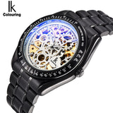 IK colouring Full Steel Luminous Automatic Mechanical Men's watch Brand Luxury Transparent - Beltran's Enterprise