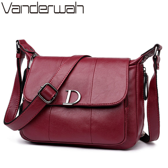 VANDERWAH NEW Flap Bags Handbags Women Famous Brands High Quality Shoulder Bag - Beltran's Enterprise