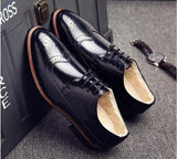 bullock carved wedding formal oxford shoes for men pointed toe dress shoes zapatos hombre casual - Beltran's Enterprise