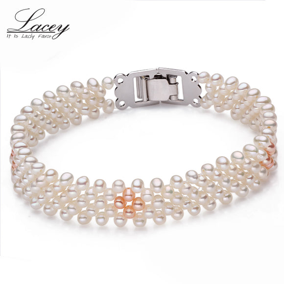 Natural freshwater pearl bracelet women jewelry,white pearl charms bracelet 925 silver jewelry - Beltran's Enterprise