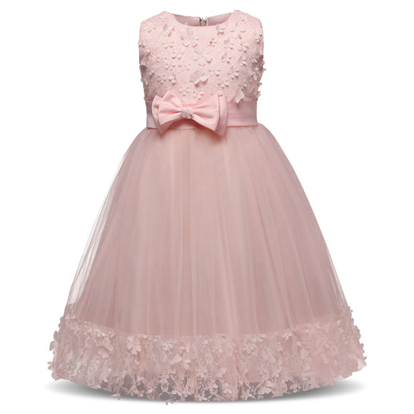 Solid Infant Girl Dress 2018 Fashion Ball Gown Baby Kids Clothing For 4-10 Years Sleeveless Newborn - Beltran's Enterprise