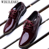 2018 formal men shoes zapatos hombre casual sapato masculino dress wedding shoes patent leather - Beltran's Enterprise