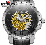 Switzerland BINGE watches men luxury brand mechanical hand wind full stainless steel Wristwatches - Beltran's Enterprise