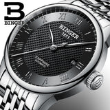 Switzerland BINGER men's watch luxury brand sapphire waterproof swim self-wind - Beltran's Enterprise