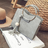 Fashion Women Pu Leather Pearl Tassel Shoulder Crossbody Bag Handbag Tote Purse Messenger - Beltran's Enterprise
