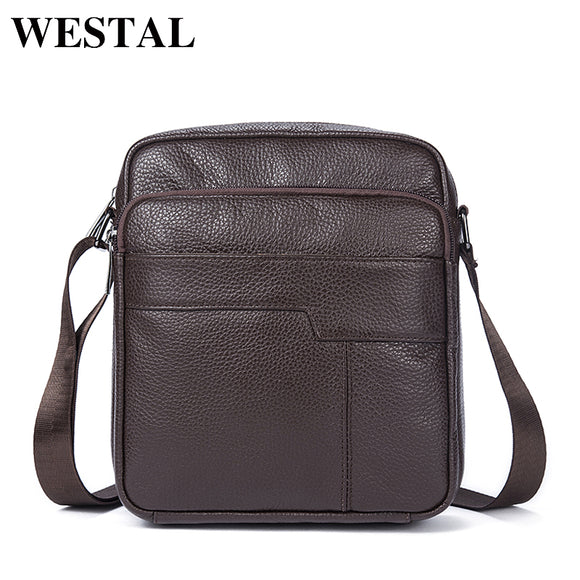 WESTAL men bag genuine leather crossbody messenger bags men's shoulder men bag flap zipper vintage - Beltran's Enterprise