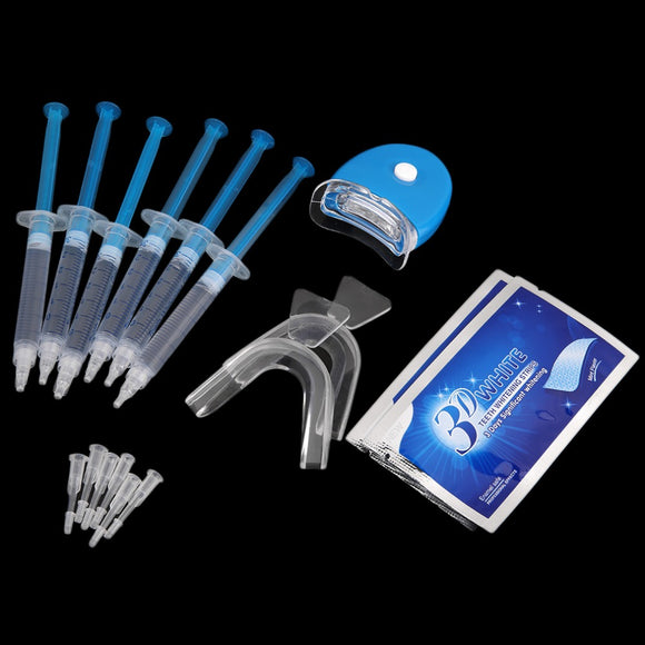 Professional Teeth Whitening Kit  6 Pieces Whitening Gel And 2 Pair Tooth Whitening Strip Oral Health Care - Beltran's Enterprise