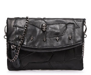 Real Women Messenger bag cow split leather clutch bag Chain - Beltran's Enterprise