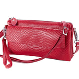 Hot selling! Women Clutch Bag snake pattern Genuine Cow Leather Wallets Fashion Wristlet - Beltran's Enterprise
