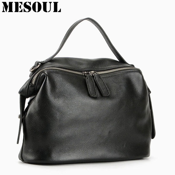 New Arrival 100% Real Soft Genuine Leather Women Handbag Ladies Shoulder Bags Fashion Designer - Beltran's Enterprise