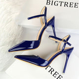 designer luxury brand bigtree shoes high heels sandals women mules chaussures femme ete 2018 - Beltran's Enterprise