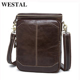 WESTAL Men's Genuine Leather Bags male men Crossbody bags Casual small Messenger bag - Beltran's Enterprise