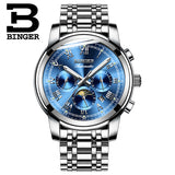 Switzerland Automatic Mechanical Watch Men Binger Luxury Brand - Beltran's Enterprise