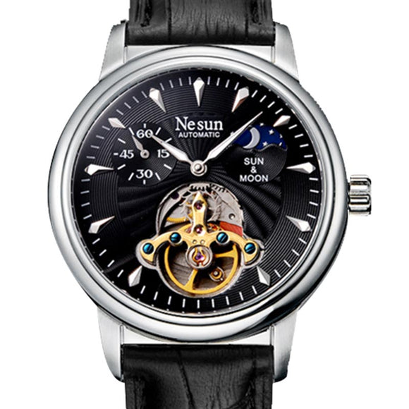 Nesun Skeleton Tourbillon Watch Men Switzerland Luxury Brand - Beltran's Enterprise