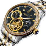 Luxury Brand Switzerland NESUN Skeleton Diamond Watch Men Automatic Self-Wind Men's Watches - Beltran's Enterprise