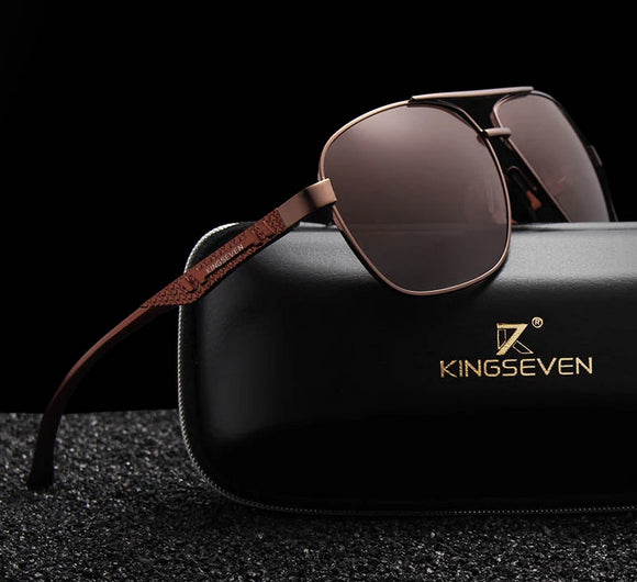 KINGSEVEN 2018 Brand Men Aluminum Sunglasses HD Polarized UV400 Mirror Male Sun Glasses - Beltran's Enterprise