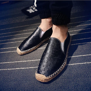 white shoes men loafers leather large sizes men casual shoes moccasins hip hop shoes man espadrilles - Beltran's Enterprise