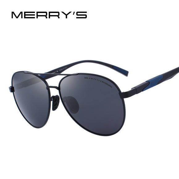 MERRY'S DESIGN Men Classic Polarized Sunglasses Aluminum Pilot Sunglasses UV400 - Beltran's Enterprise