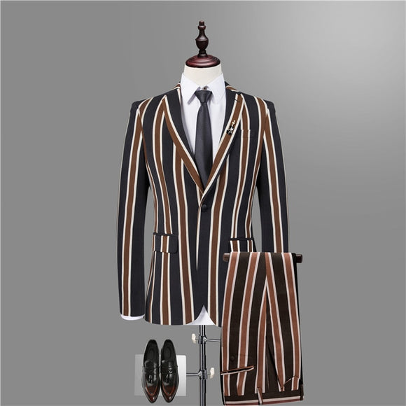 2018 Men Slim Fit Leisure Blazer Jacket  , Brand-clothing Stage Suit Mens Plus Size High-end Luxury - Beltran's Enterprise