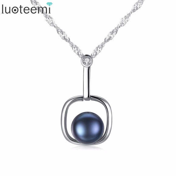 LUOTEEMI Simple Design Charm Pendant Fascination Enchantment Sterling Silver - Beltran's Enterprise