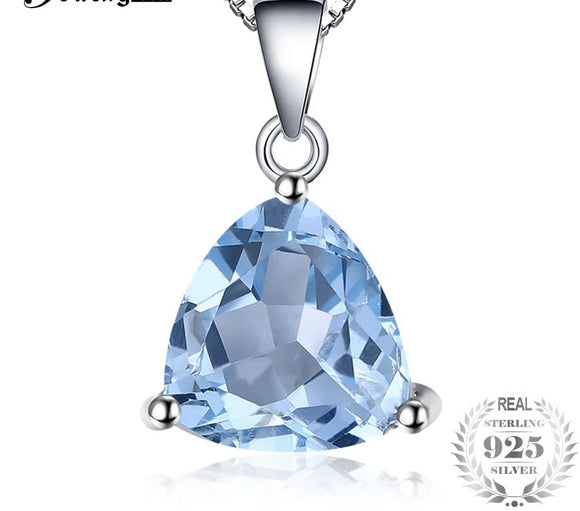 JewelryPalace  Classic Trillion 2.2ct Natural Sky Blue Topaz 100% Genuine - Beltran's Enterprise