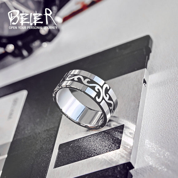 BEIER 316L Stainless Steel  Simple Ring 2017 New Jewelry Wholesale Factory Price fashion Jewelry - Beltran's Enterprise