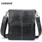 VORMOR Leather Men Bag Fashion Leather Crossbody Bag Shoulder Men Messenger Bags - Beltran's Enterprise