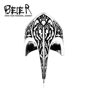 BEIER Stainless steel Thor Hammer Viking Amulet Scandinavian Jewelry man Ring - Beltran's Enterprise