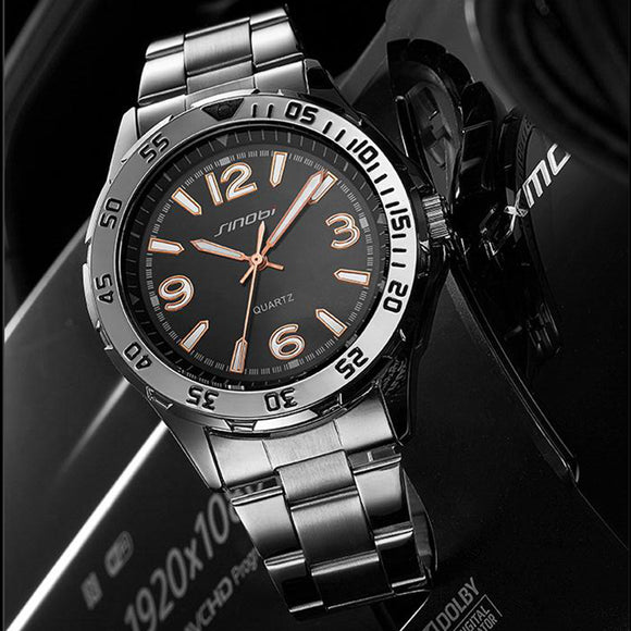 SINOBI Men Watch Top Brand Luxury Fashion 2018 Sport Casual Simple Luminous Military Army Quartz Wrist Watches Relogio Masculino - Beltran's Enterprise
