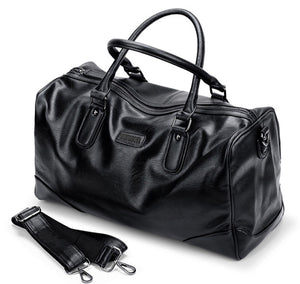 VORMOR PU Leather Men Travel Bags Carry on Luggage Bags Men Duffel Bag Travel Tote - Beltran's Enterprise