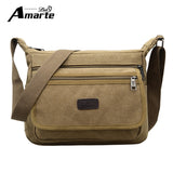 Amarte Vintage Men Messenger Bags Canvas Crossbody Bags for Men Shoulder Bags - Beltran's Enterprise