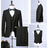 LEFT ROM brand fashion Business affairs Long sleeve Man's suit Jacket+Vest+trousers - Beltran's Enterprise