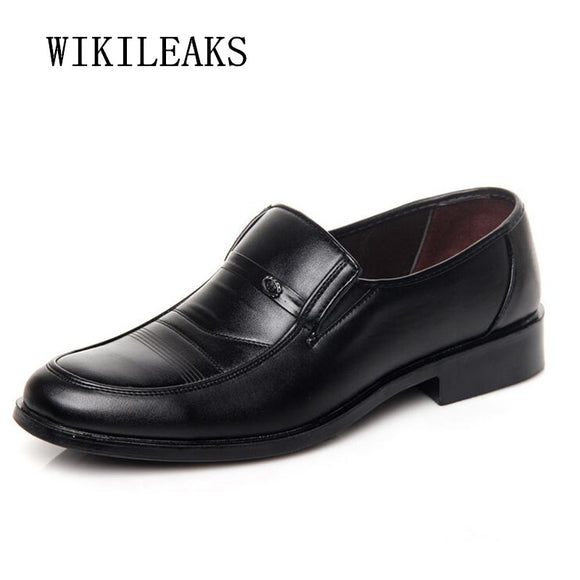 2018 leather shoes men oxford shoes for men formal wedding shoes business dress shoes sapato