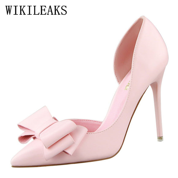 Leather extreme high heels shoes women wedding shoes zapatos mujer tacon  italian pumps woman luxury - c0ced09fcf73
