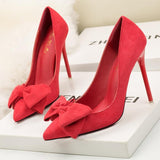 flock wedding shoes woman red extreme high heels women shoes zapatos mujer designer luxury brand - Beltran's Enterprise