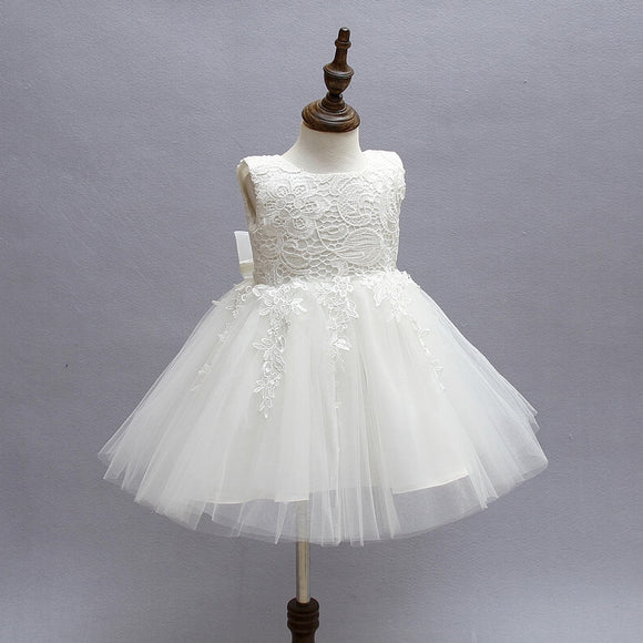 Kids Flower Girls Dresses Pageant Vestidos Bebes Lace Tulle Kid Girl Party Dress for Wedding - Beltran's Enterprise