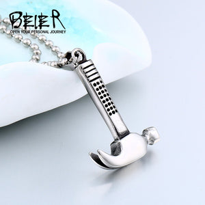 BEIER Fashion 2017 New Men's Necklaces Hammer Pendant Stainless Steel Male Necklace - Beltran's Enterprise