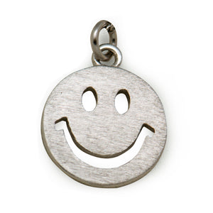 Fashion Happy Smile Face Emoji Solid 925 Sterling Silver Necklace - Beltran's Enterprise