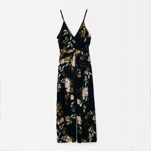 Bella Philosophy summer beach holiday women jumpsuits spaghetti strap female sexy female rompers print lace up ladies jumpsuits - Beltran's Enterprise