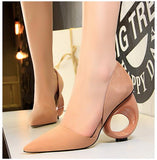 2018 sexy wedding shoes woman suede extreme high heels pumps sapato - Beltran's Enterprise