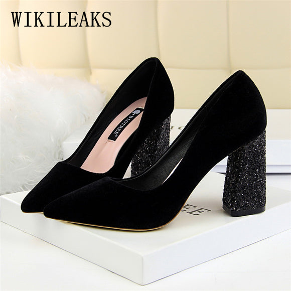 High heels women wedding shoes zapatos mujer tacon italian pumps woman luxury brand - Beltran's Enterprise