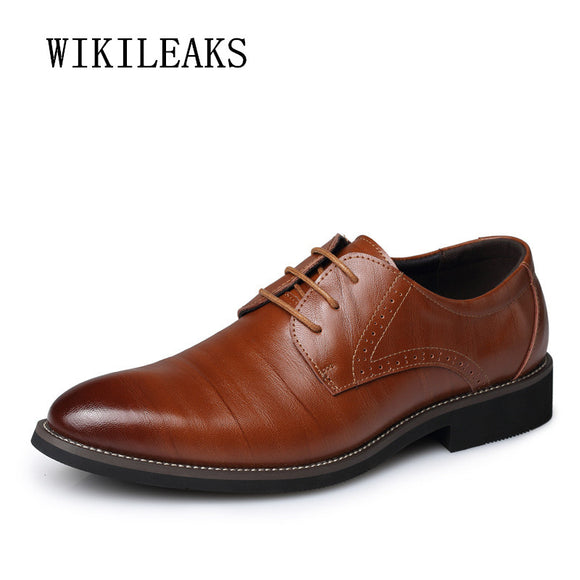 2018 Mens Business Shoes Oxfords Shoes For Men Wedding Shoes - Beltran's Enterprise