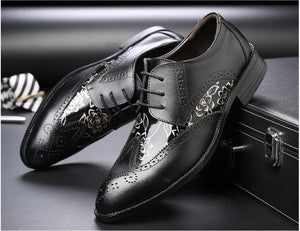 2018 genuine leather men shoes mixed colors bullock leather shoes oxford shoes for men - Beltran's Enterprise