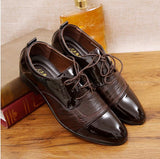 business men shoes oxford shoes for men pointed toe wedding dress shoes patent leather zapatos - Beltran's Enterprise