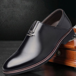 2018 leather shoes men formal wedding shoes oxford shoes for men loafers pointed toe - Beltran's Enterprise